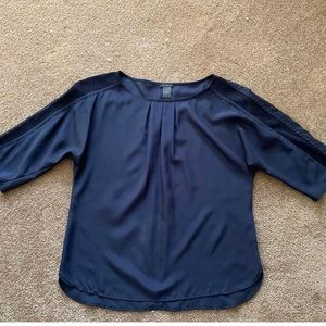 Ann Taylor True Navy 3/4 Sleeve Blouse!